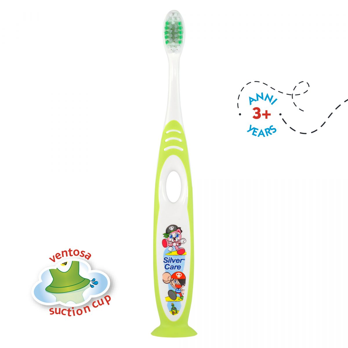 SPAZZOLINO KID'S BRUSH verde